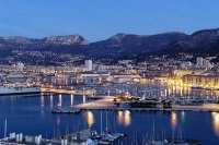 Vue de nuit de Toulon